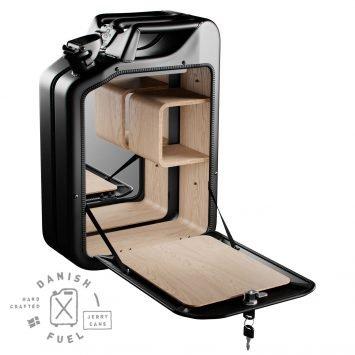 Danish Fuel Bar Cabinet U2013 Basic Design U2013 Nano Black / Oak