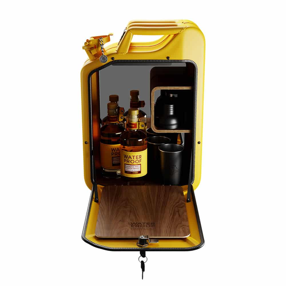 Danish Fuel Bar Cabinet for Waterproof whisky